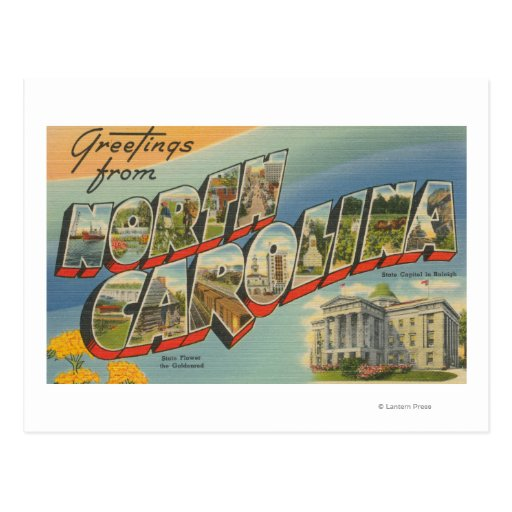 North CarolinaLarge Letter Scenes 2 Postcard