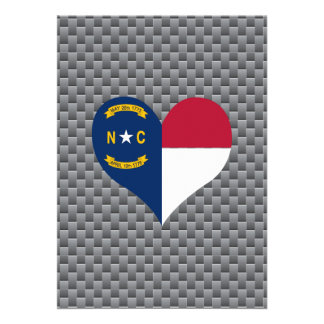 North Carolinian Flag on a cloudy background 13 Cm X 18 Cm Invitation Card