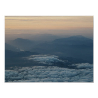 North Cascade Mountains at sunset Poster