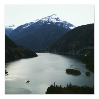 North Cascades 13 Cm X 13 Cm Square Invitation Card