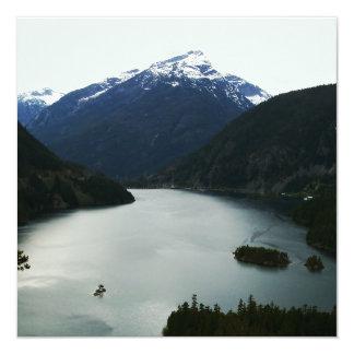 North Cascades 13 Cm X 13 Cm Square Invitation Card