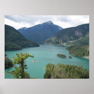 North Cascades Diablo Lake Landscape Poster