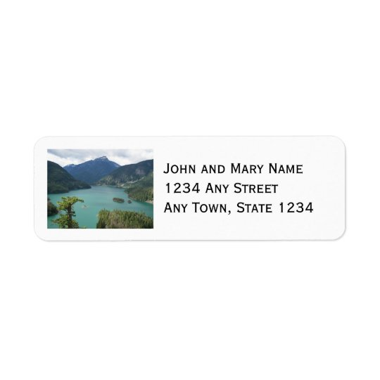North Cascades Diablo Lake Photo Return Address Label