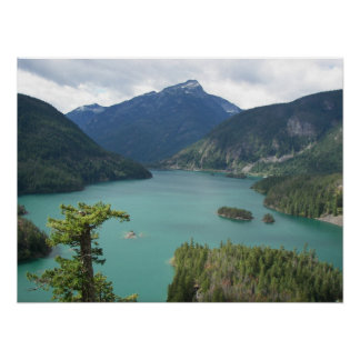 North Cascades Diablo Lake Poster