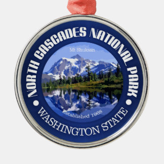 North Cascades National Park Metal Ornament