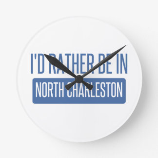 North Charleston Round Clock