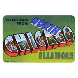 North Chicago Illinois IL Large Letter Magnet