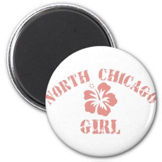 North Chicago Pink Girl Magnet
