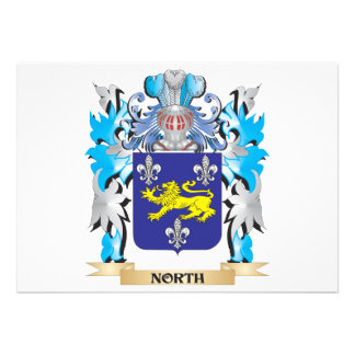North Coat of Arms - Family Crest Invitation