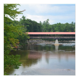 North Conway Covered Bridge Personalized Invitations