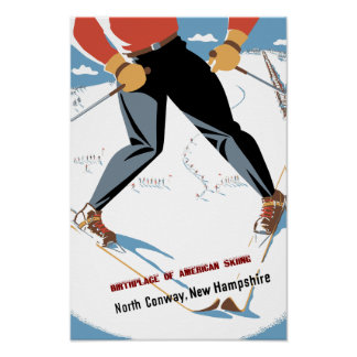 North Conway, New Hampshire travel poster