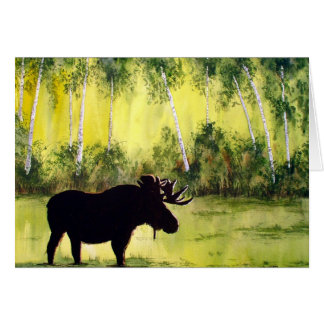 North Country Moose Blank Greeting Card