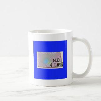"""""""North Dakota 4 Life"""" State Map Pride Design Coffee Mug"""