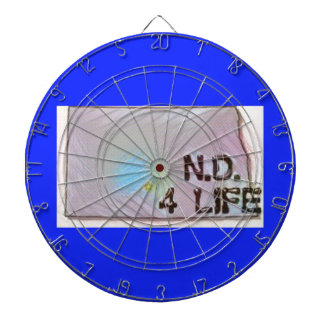 """North Dakota 4 Life"" State Map Pride Design Dartboard"