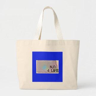 """""""North Dakota 4 Life"""" State Map Pride Design Large Tote Bag"""