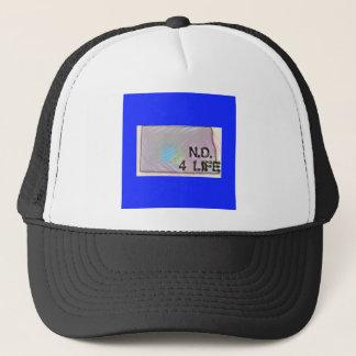 """North Dakota 4 Life"" State Map Pride Design Trucker Hat"