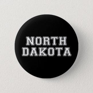 North Dakota 6 Cm Round Badge