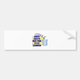 North Dakota Beer Pong Champion Bumper Sticker