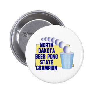 North Dakota Beer Pong Champion Pin