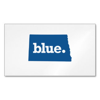 NORTH DAKOTA BLUE STATE MAGNETIC BUSINESS CARDS
