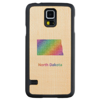 North Dakota Carved Maple Galaxy S5 Case