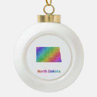 North Dakota Ceramic Ball Decoration