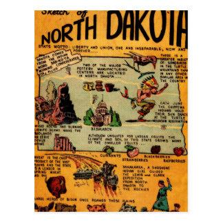 North Dakota Comic Book Postcard