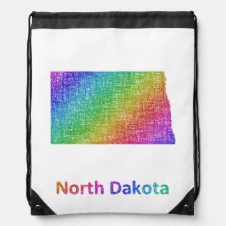 North Dakota Drawstring Bag