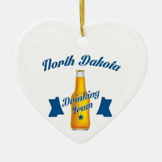 North Dakota Drinking team Ceramic Heart Decoration