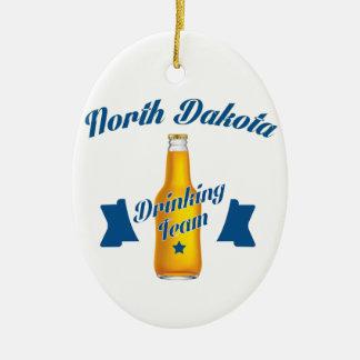North Dakota Drinking team Ceramic Oval Decoration