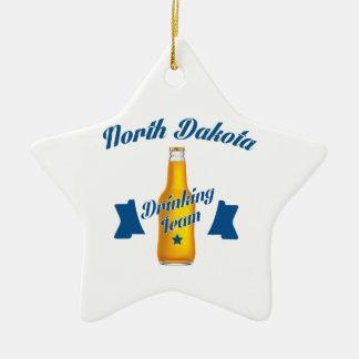 North Dakota Drinking team Ceramic Star Decoration