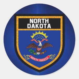 North Dakota Flag Classic Round Sticker