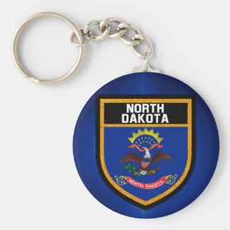 North Dakota Flag Key Ring