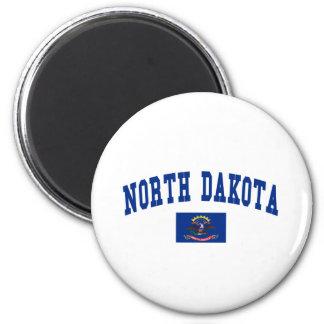 North Dakota Flag Refrigerator Magnets