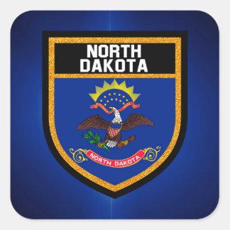 North Dakota Flag Square Sticker