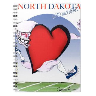 north dakota head heart, tony fernandes spiral notebook