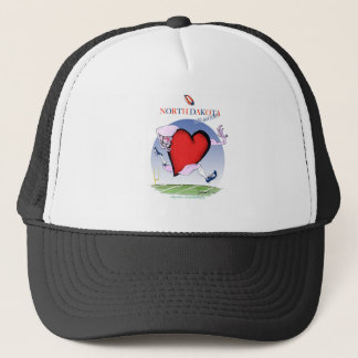 north dakota head heart, tony fernandes trucker hat