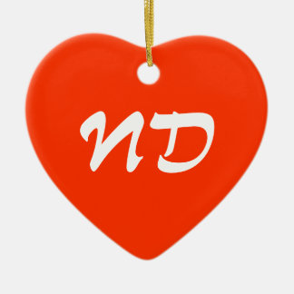 North Dakota Heart Ornament
