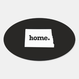 North Dakota Home Oval Sticker