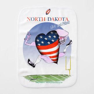 north dakota loud and proud, tony fernandes burp cloth