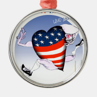 north dakota loud and proud, tony fernandes Silver-Colored round decoration