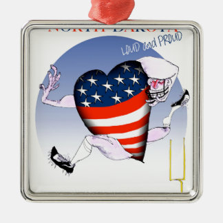 north dakota loud and proud, tony fernandes Silver-Colored square decoration
