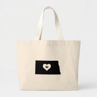 North Dakota Love Large Tote Bag