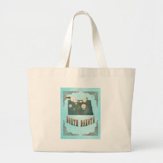 North Dakota Map With Lovely Birds Tote Bag