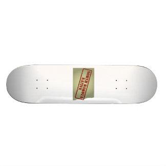 North Dakota Native Stamped on Map Skate Board Decks