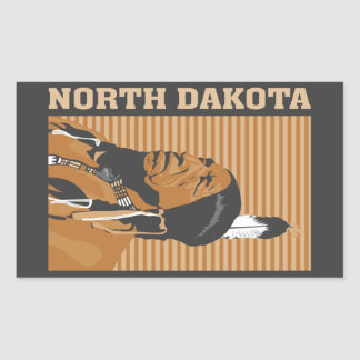 North Dakota Rectangular Sticker