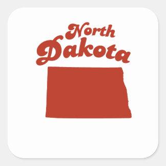 NORTH DAKOTA Red State Square Sticker
