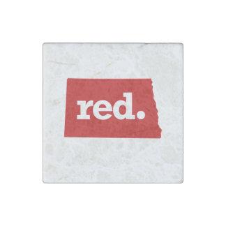 NORTH DAKOTA RED STATE STONE MAGNET