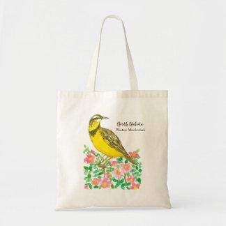 North Dakota State Bird Western Meadowlark Tote Bag