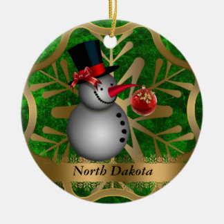North Dakota State Christmas Ornament